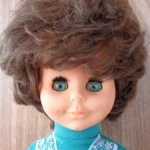 Кукла ГДР с улыбкой и ямочками на щеках .