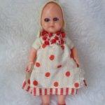 Итальянская микро куколка с моргающими глазками в родной одежде