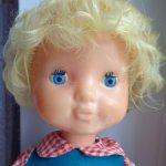 кукла СССР Алёнка , имя родное написано под крышкой волос