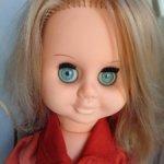 Кукла ГДР в родном, длинные волосы