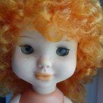 Кукла СССР , рыжик с веснушками .