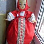 Кукла -чайница ! Паричковая кукла Московской фабрики сувенирных и подарочных игрушек .