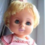 Кукла ГДР Бигги с длинной прядкой в родной одежде