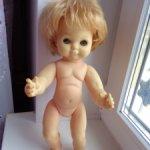 Кукла ГДР Ари , полностью резиновая