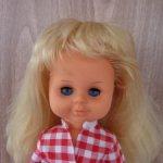 Кукла ГДР . миниатюрная красотка в родном .