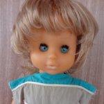 Кукла ГДР в родной одежде,в волосах клеймо Р45/158