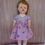 Шагающая кукла с клеймом на шее 50-е годы