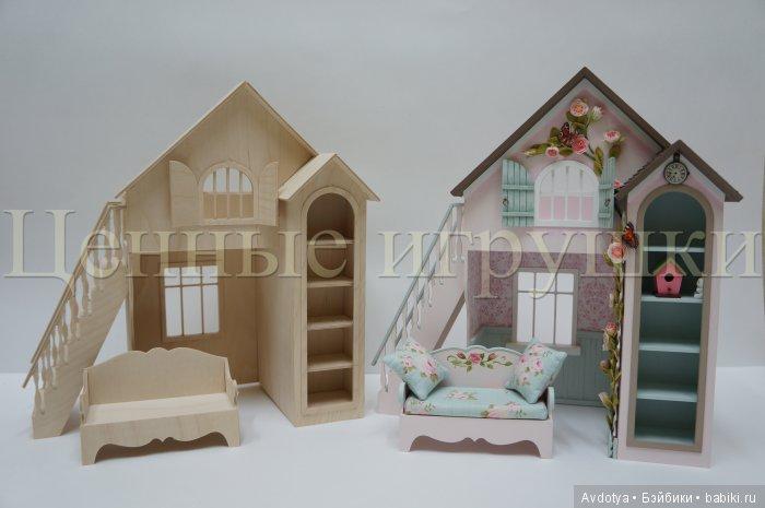 миниатюра, кровать-домик, кукольная кровать, кукольная мебель, заготовка для сборки