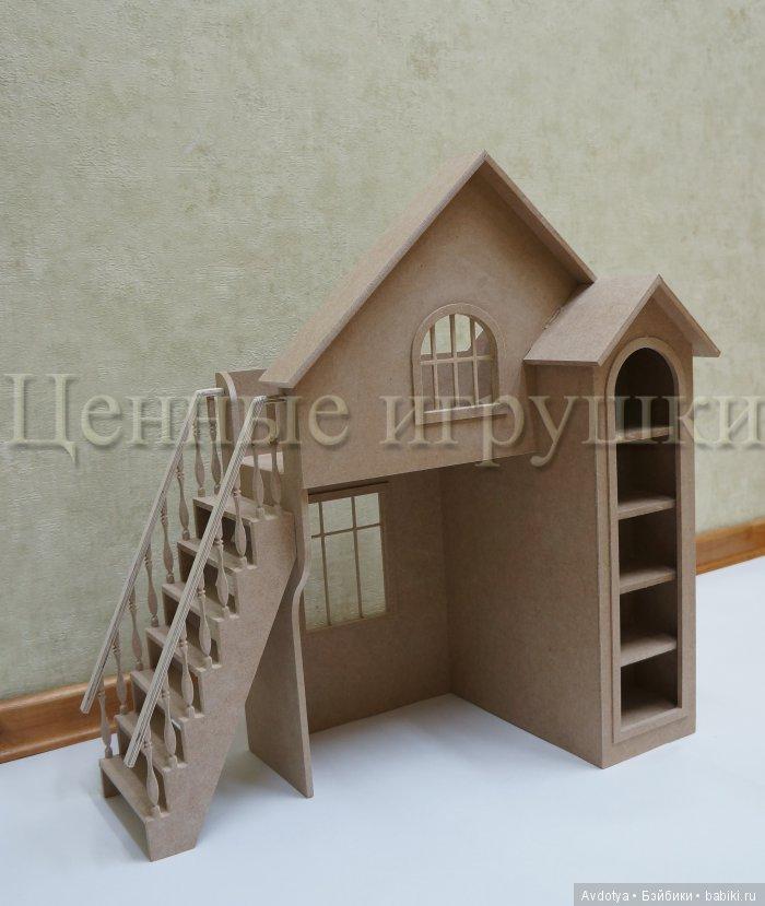 кукольная мебель, кукольная кровать, кровать-домик, миниатюра, ценные-игрушки
