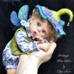 Цветочный эльф. Кукла-реборн Екатерины Захаровой