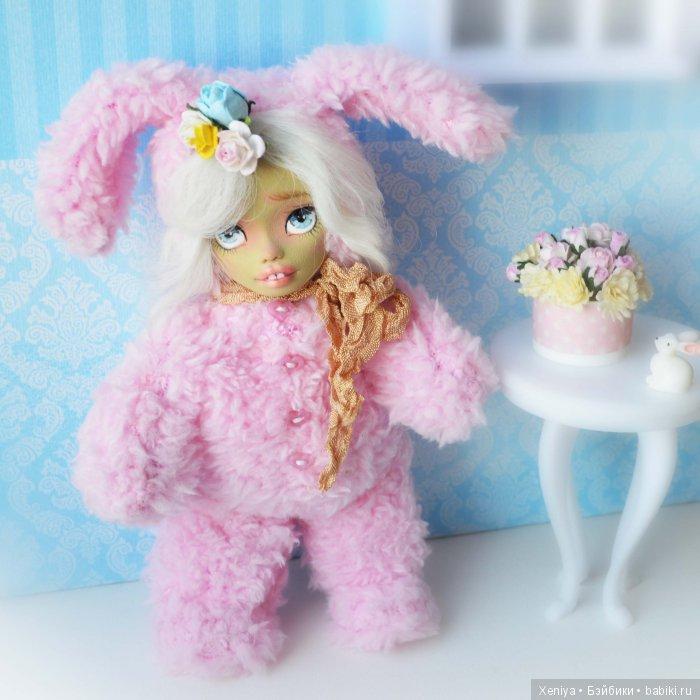авторская кукла; тедди долл; зайка