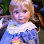 Еще одна маленькая очаровашечка, кукла из фарфора от Анны Тиммерман