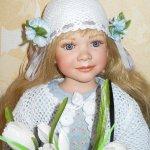 Фарфоровая кукла Бианка от Энн Тиммерман, девочка - Весна