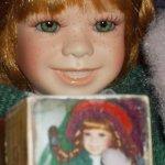 """""""Пеппи, кубики и мишка"""" коллекционная кукла, автор  Linda Steele"""