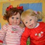 Кофе с молоком или детский сад прибыл. Коллекционные куклы Laura Tuzio Ross и Monika Gerdes