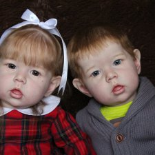 Куклы реборн Laura и Christian, молды Лиам. Мастер Ekaterina Abbyasova babies