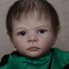 Кукла реборн лепрекончик Эльмо, молд Elf Ira от Karola Wegerich. Художник Ekaterina Abbyasova babies