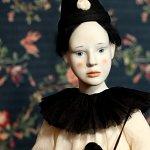 Авторская фарфоровая кукла. Пьеро