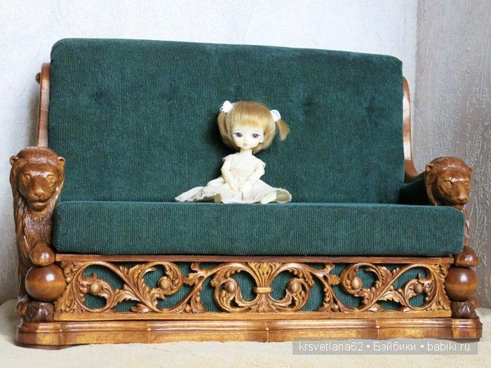 Кабинетный диван для бжд кукол