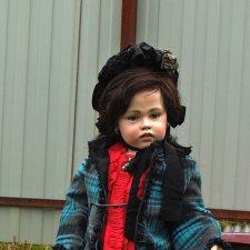 Хочу показать  вам свою новую работу, шарнирная кукла 80 см