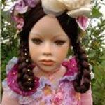 Мой экзотический цветок... Коллекционная фарфоровая кукла