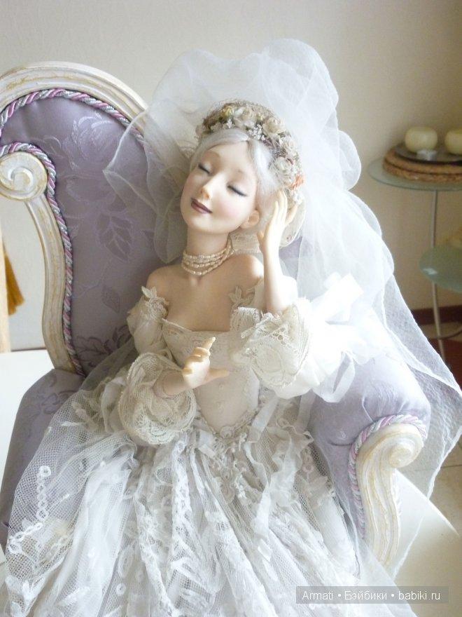 """Armati-Мебель для кукол. Кресло из массива дерева для авторской кулы """"Невеста"""""""