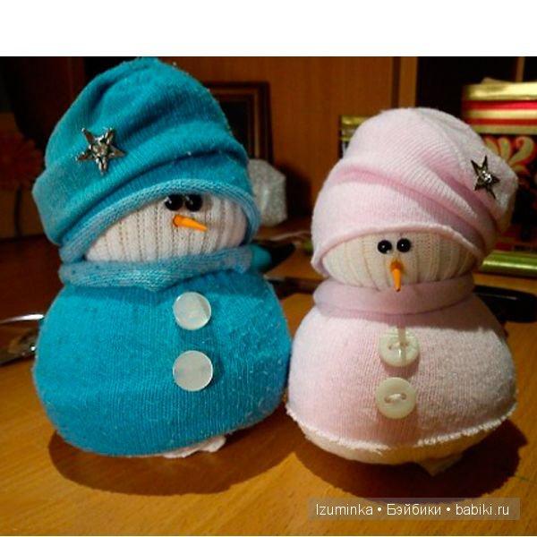 Как сделать игрушку снеговика своими руками