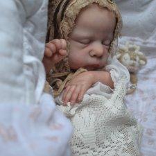 Маленький Пип в процессе возрождения. Кукла-реборн Анны Морозовой