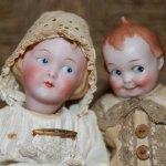 Гуглики, guck augen - антикварные характерные малыши,  Германия