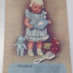 Пополнениe целлулоидных Schildkrot, молд  bebe, 1932,  Germany