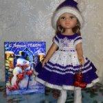 Новогодний наряд для кукол Paola Reina и других.