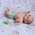 Зеленоглазый мальчик. Ооак кукла ручной работы из полимерной глины