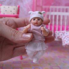 Малютка курносик. Авторская кукла ООАК