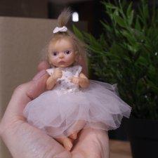 Малышка с хвостиком. Авторская кукла