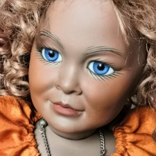 Редчайшая кукла - реплика антикварной характерной куклы KLEY & Hahn, 60 см.