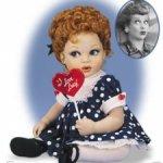 "Фарфоровый бебик от Franklin Mint "" I Love Lucy ""  Я люблю Люси"