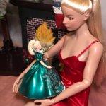 Елочные украшения, игрушки для кукол, настольные куклы - мини-версии кукол Барби