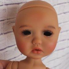 Пельмешка Сильвия-Скарлет в тане (Dumplings Sylvia-Scarlet tan) с фабричным мейком от Meadow dolls