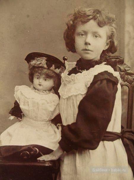 Взгляд, кукла, фартук