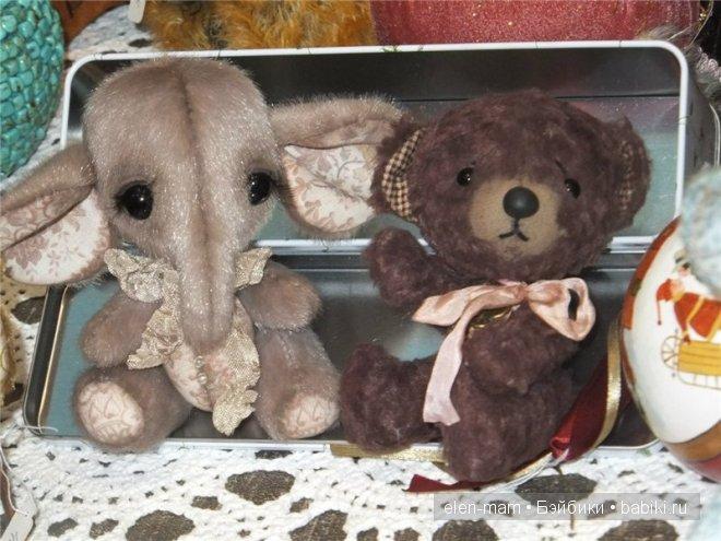 малыши - слоник и мишутка