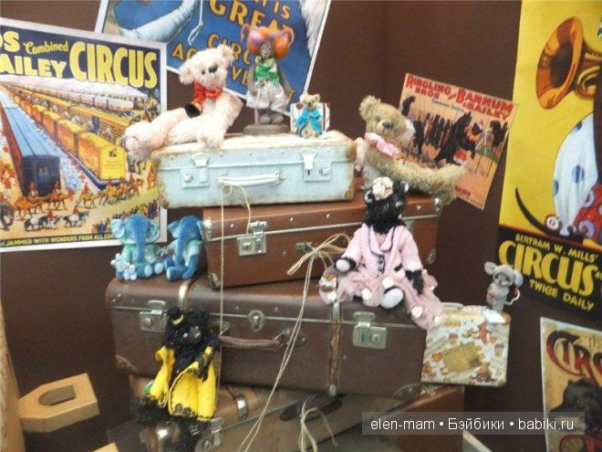 мишки на чемоданах