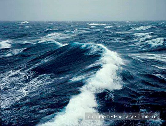 фото море бушующее