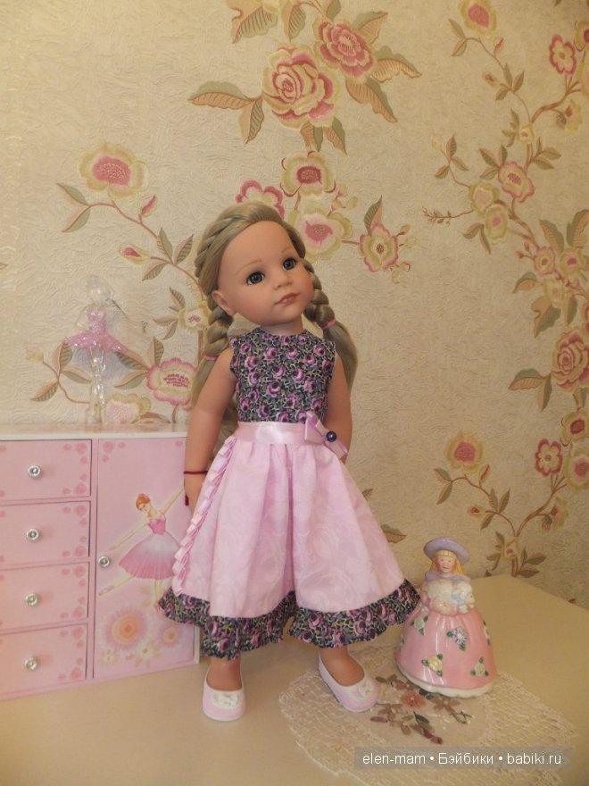 Розовое платье 8