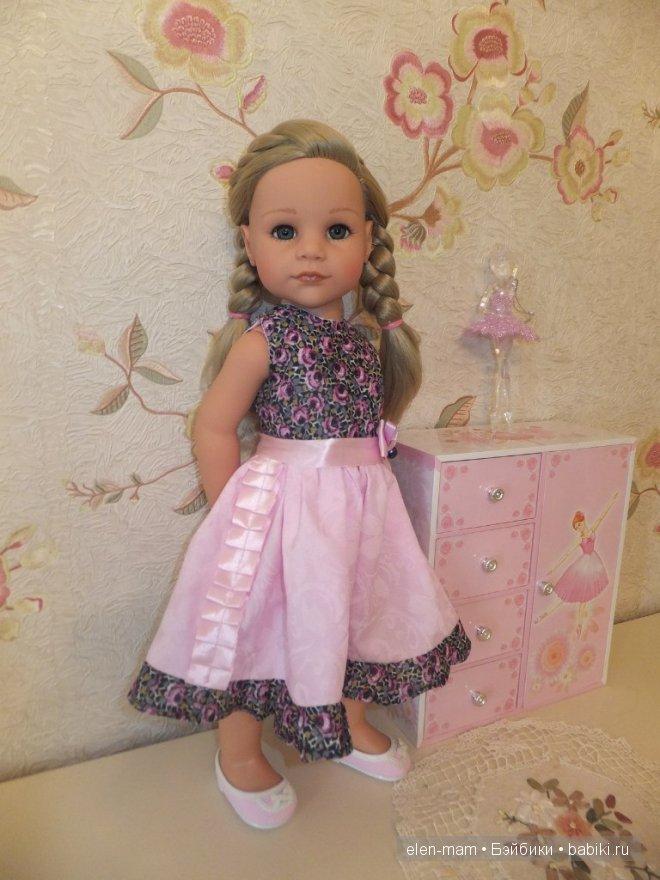 Розовое платье 14