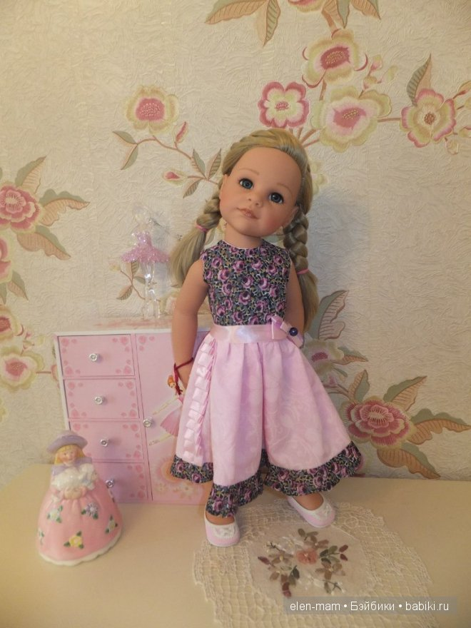 Розовое платье 4