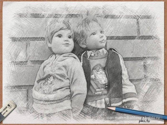 Рамка, рисунок, ластик, карандаш
