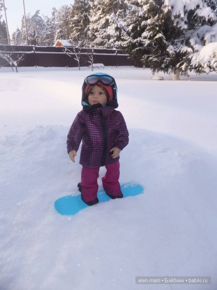 Майк на сноуборде 2