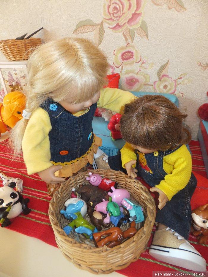 Корзина с игрушками 2