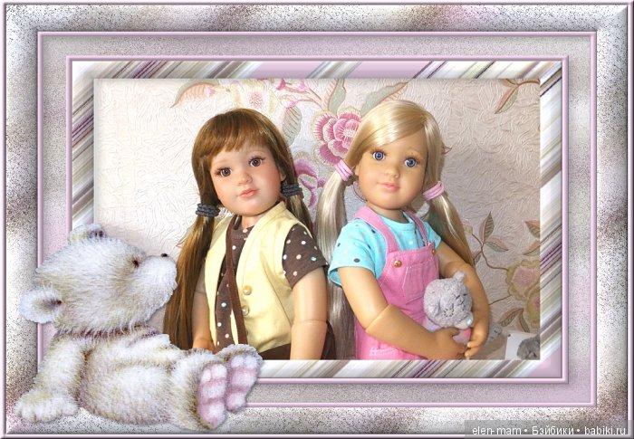 Тинка и Алина, рамка с медвежонком