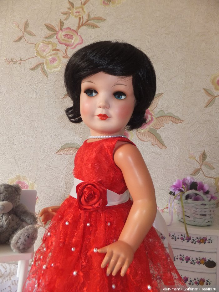 Флиртушка, красное платье 5